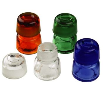 Okrągła szklana buteleczka-bursztynowa