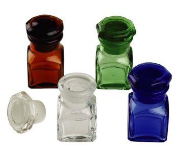 Kwadratowa szklana buteleczka-przezroczysta